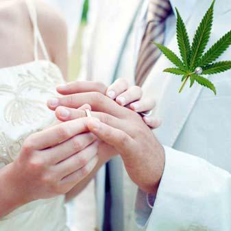 Cannabis Wedding Ring Photo