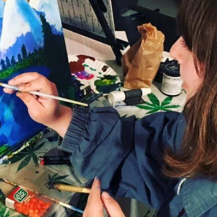 Puff, Pass & Paint - a 420-friendly creative cannabis class in LA!